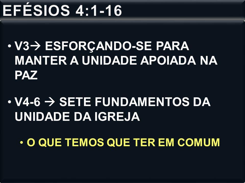 EFÉSIOS 4:1-16 V3 ESFORÇANDO-SE PARA MANTER A UNIDADE APOIADA NA PAZ