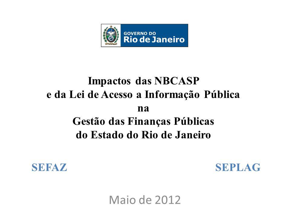 Maio de 2012 Impactos das NBCASP