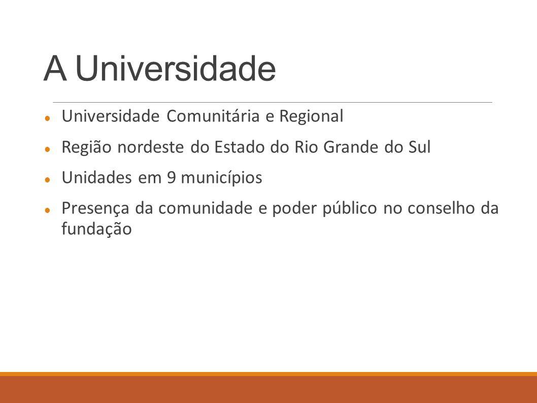 A Universidade Universidade Comunitária e Regional