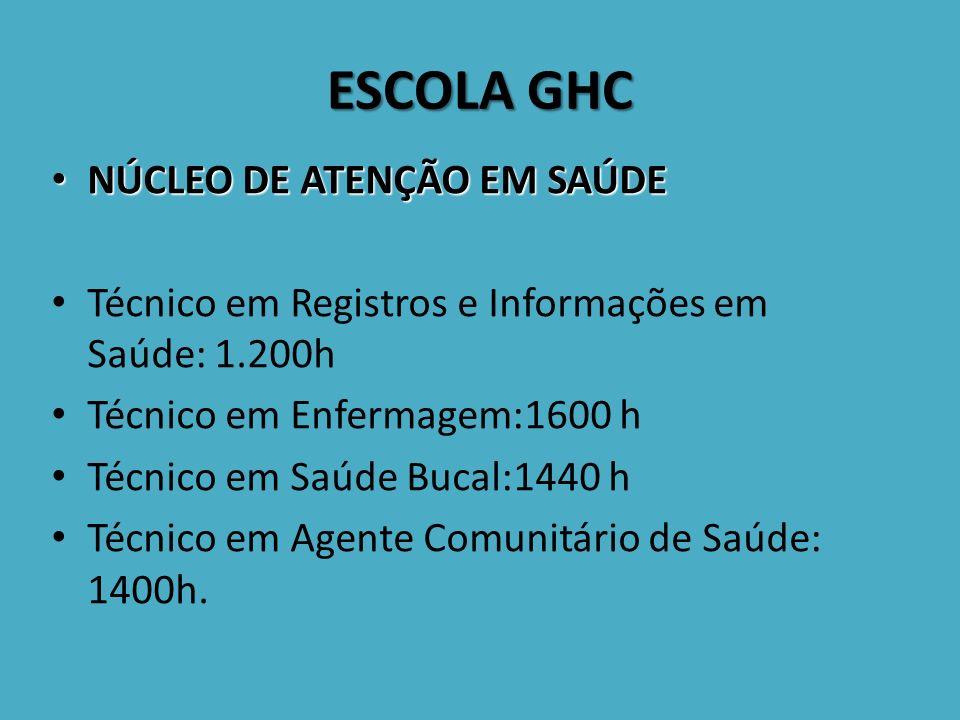 ESCOLA GHC NÚCLEO DE ATENÇÃO EM SAÚDE