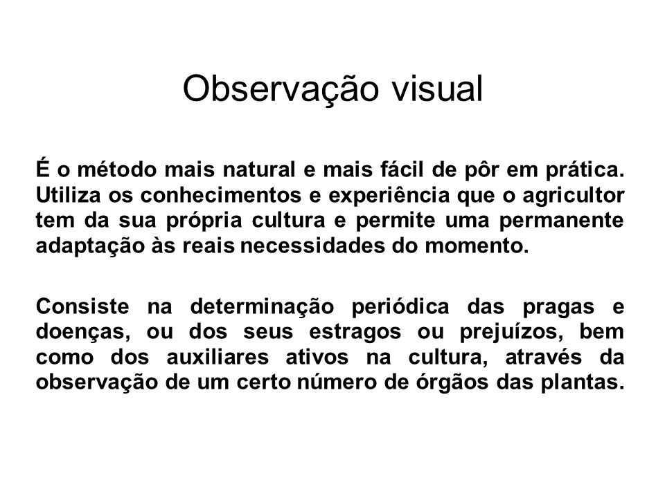 Observação visual