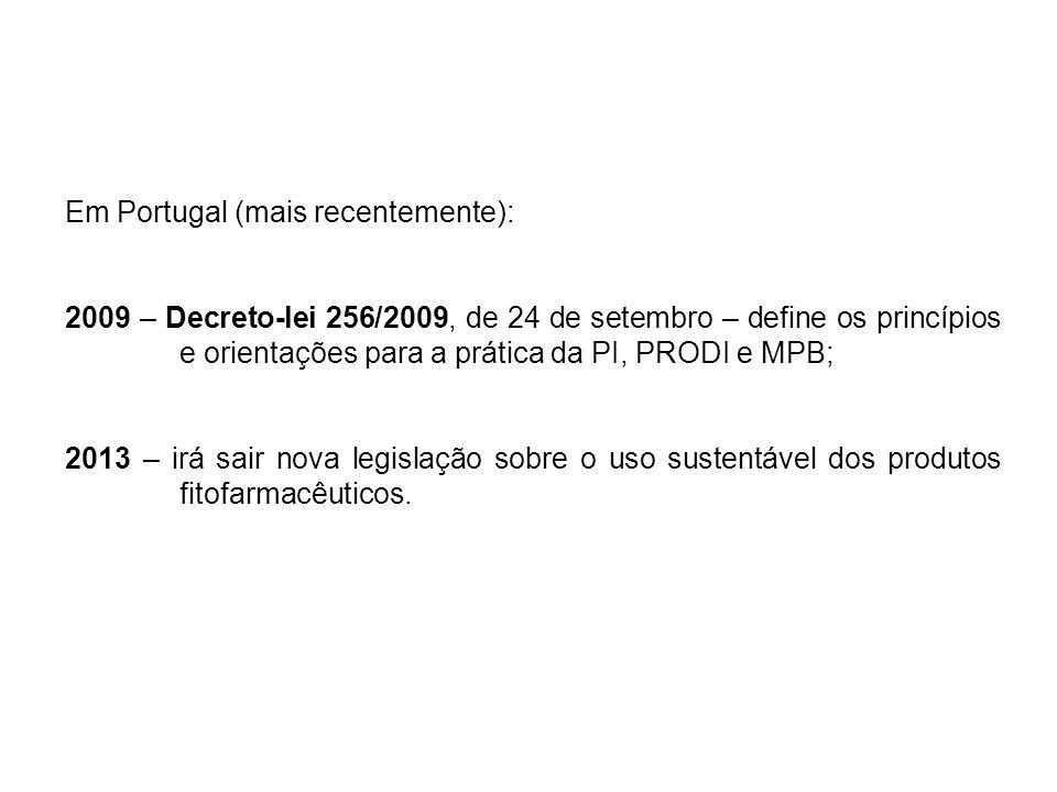 Em Portugal (mais recentemente):