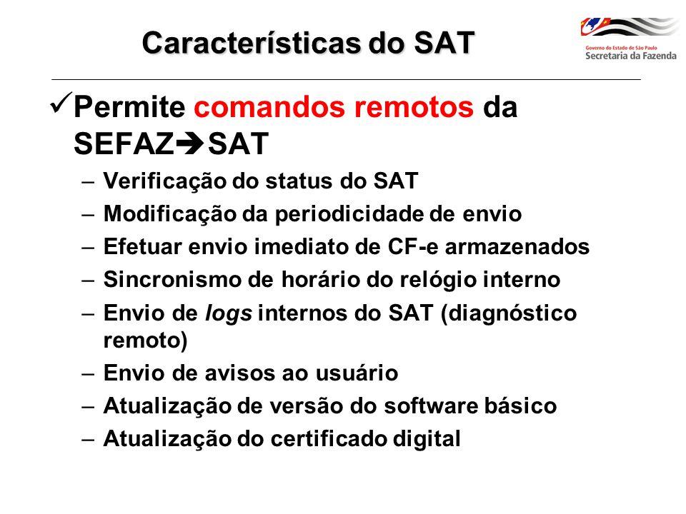 Características do SAT