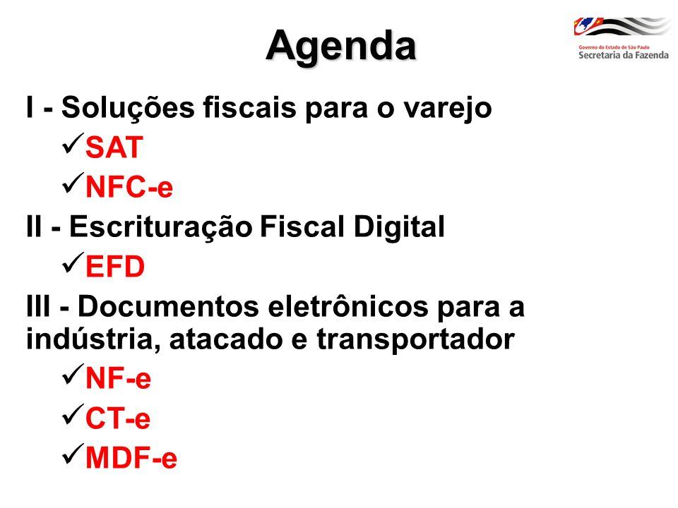 Agenda I - Soluções fiscais para o varejo SAT NFC-e