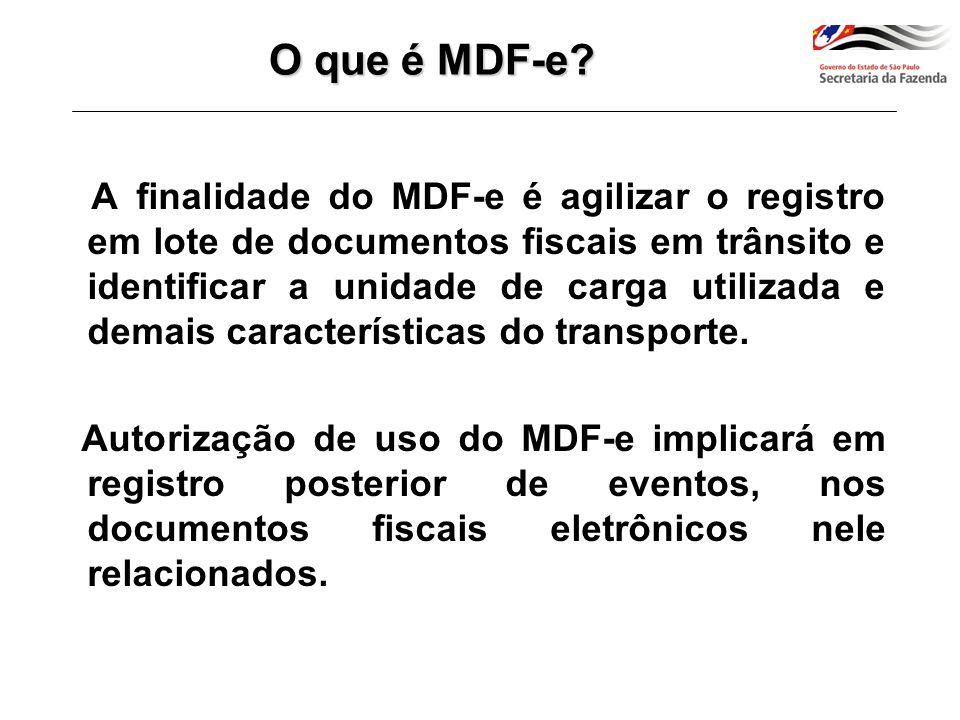 O que é MDF-e