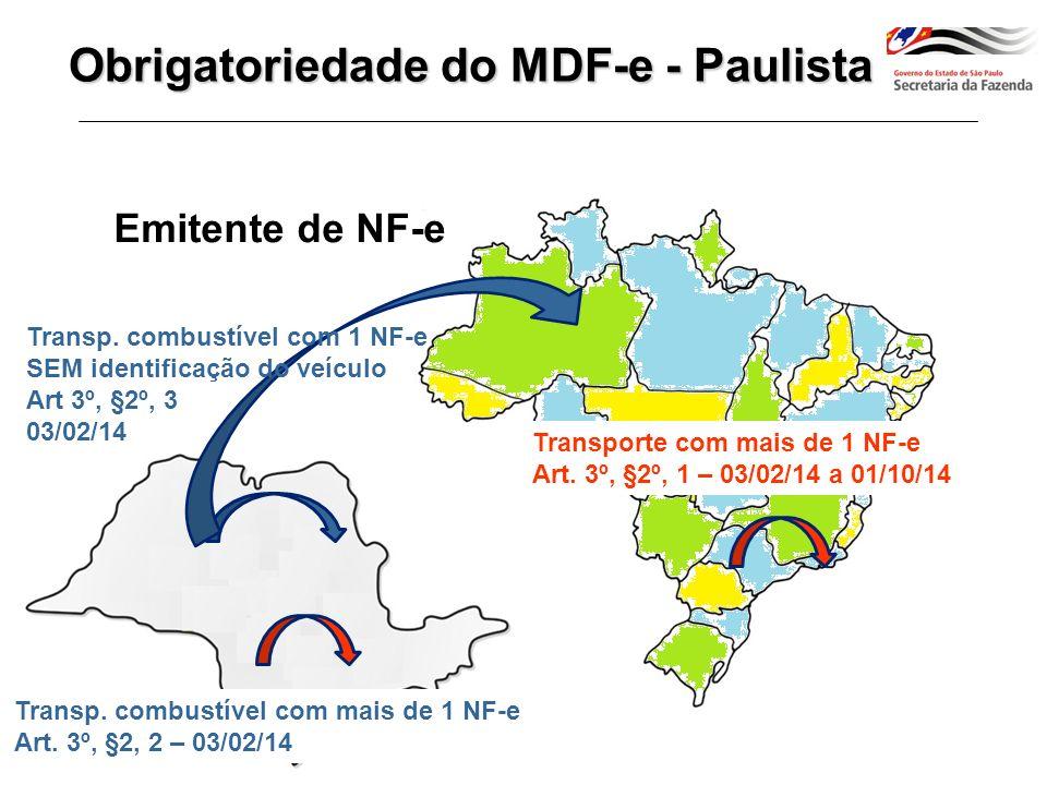 Obrigatoriedade do MDF-e - Paulista