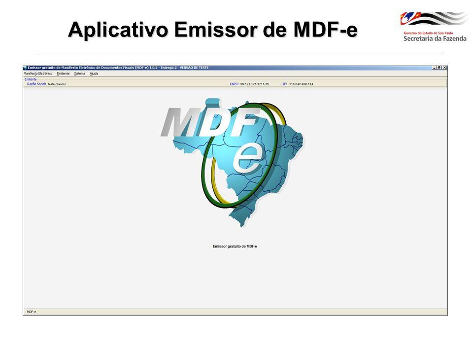 Aplicativo Emissor de MDF-e