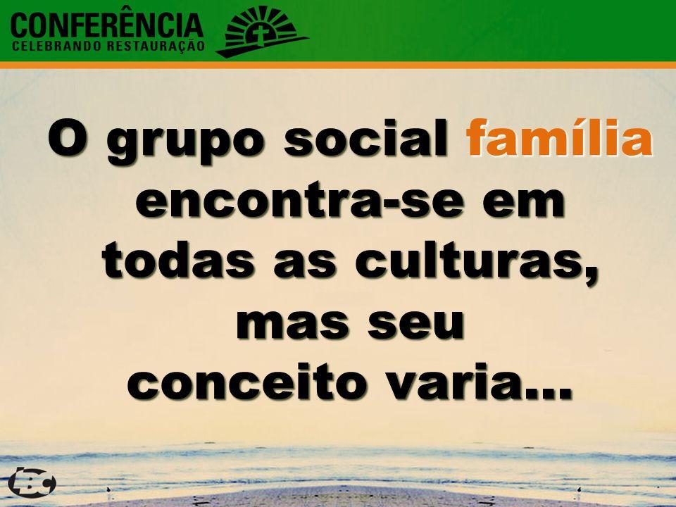 O grupo social família encontra-se em