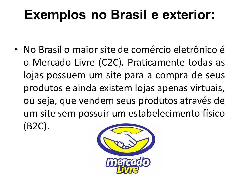 Exemplos no Brasil e exterior: