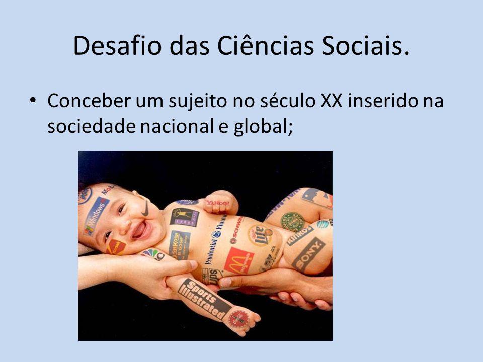 Desafio das Ciências Sociais.