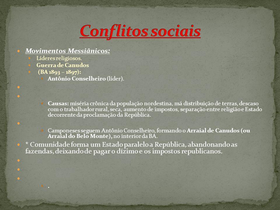 Conflitos sociais Movimentos Messiânicos: