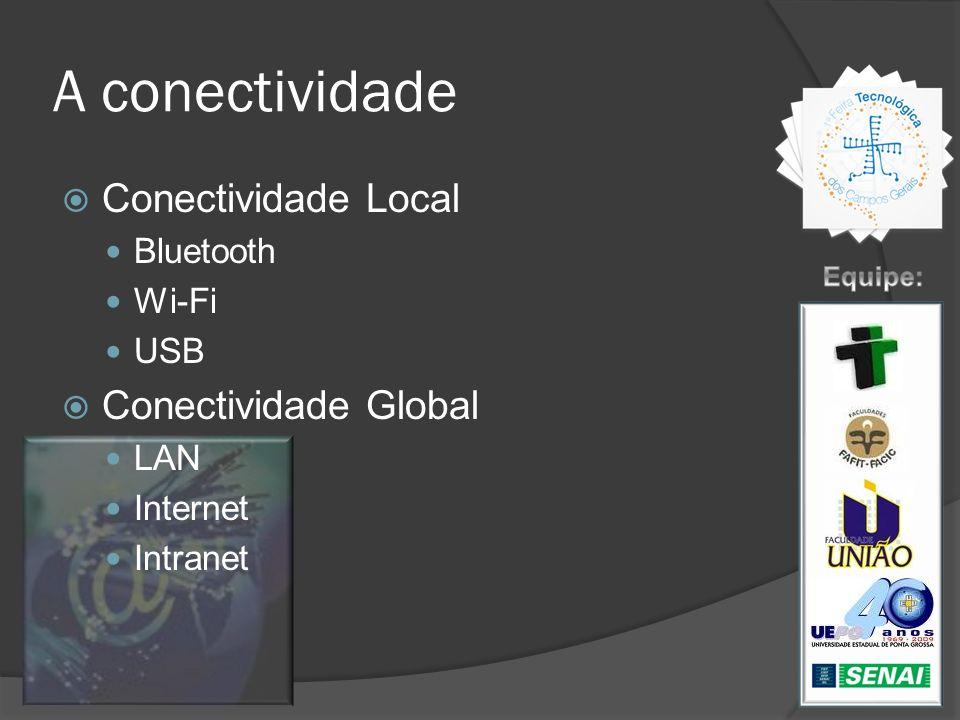 A conectividade Conectividade Local Conectividade Global Bluetooth