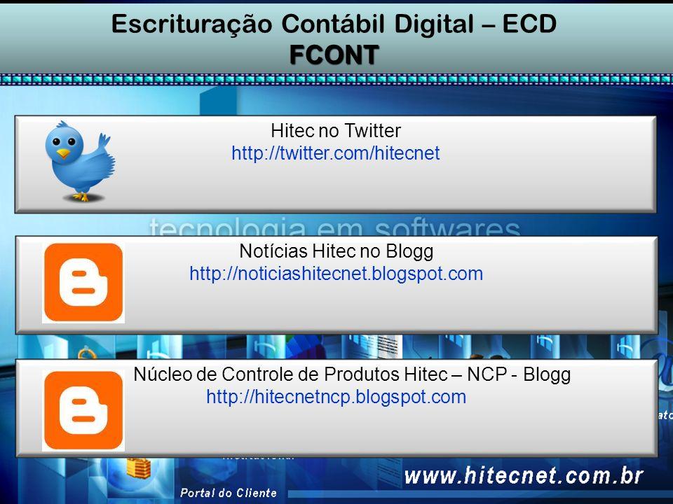 Escrituração Contábil Digital – ECD FCONT