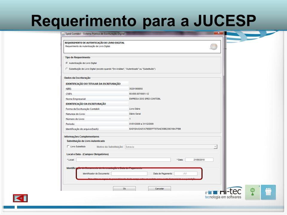 Requerimento para a JUCESP