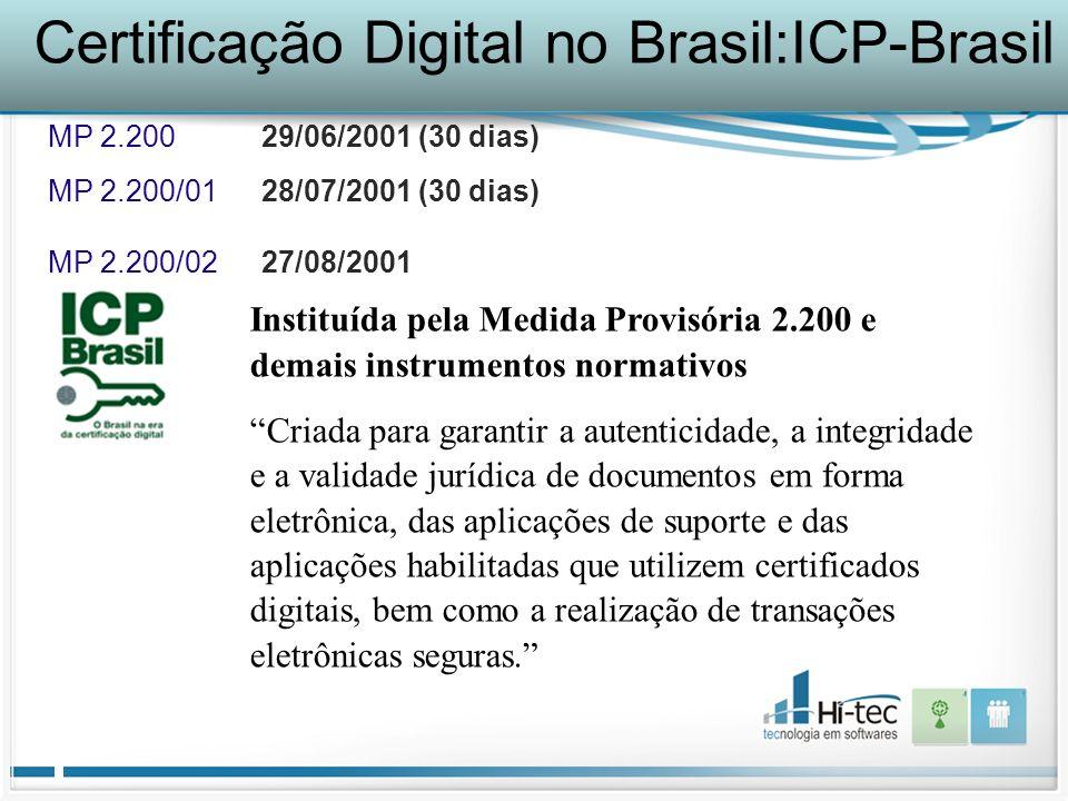Certificação Digital no Brasil:ICP-Brasil