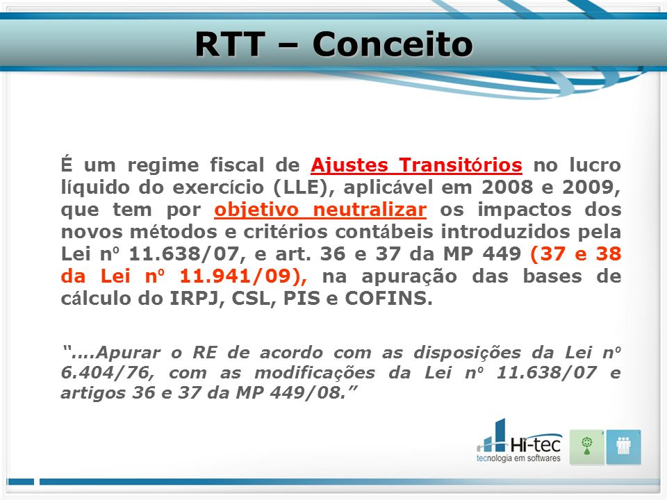 RTT – Conceito