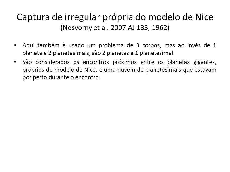 Captura de irregular própria do modelo de Nice (Nesvorny et al