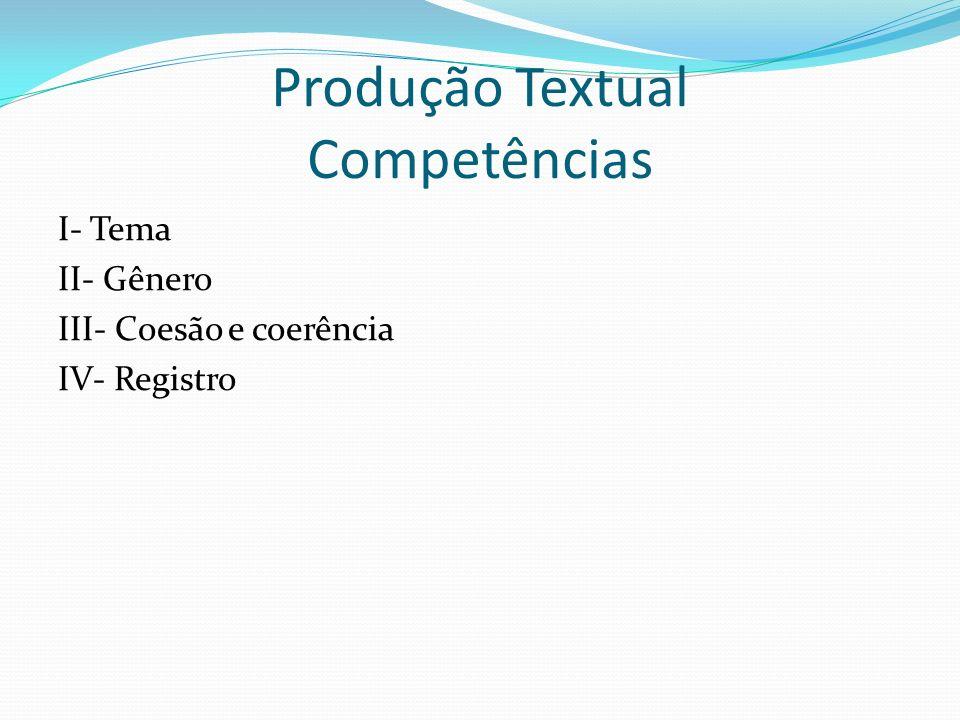 Produção Textual Competências