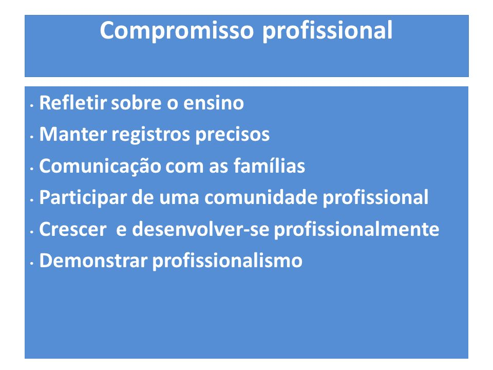 Compromisso profissional