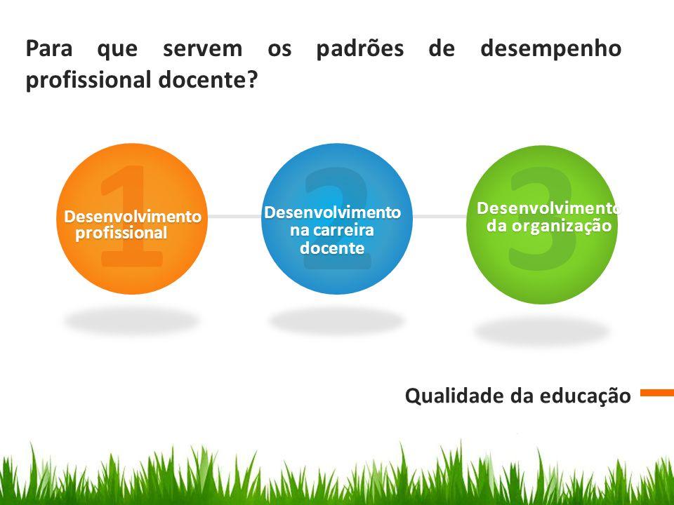 1 2 3 Para que servem os padrões de desempenho profissional docente