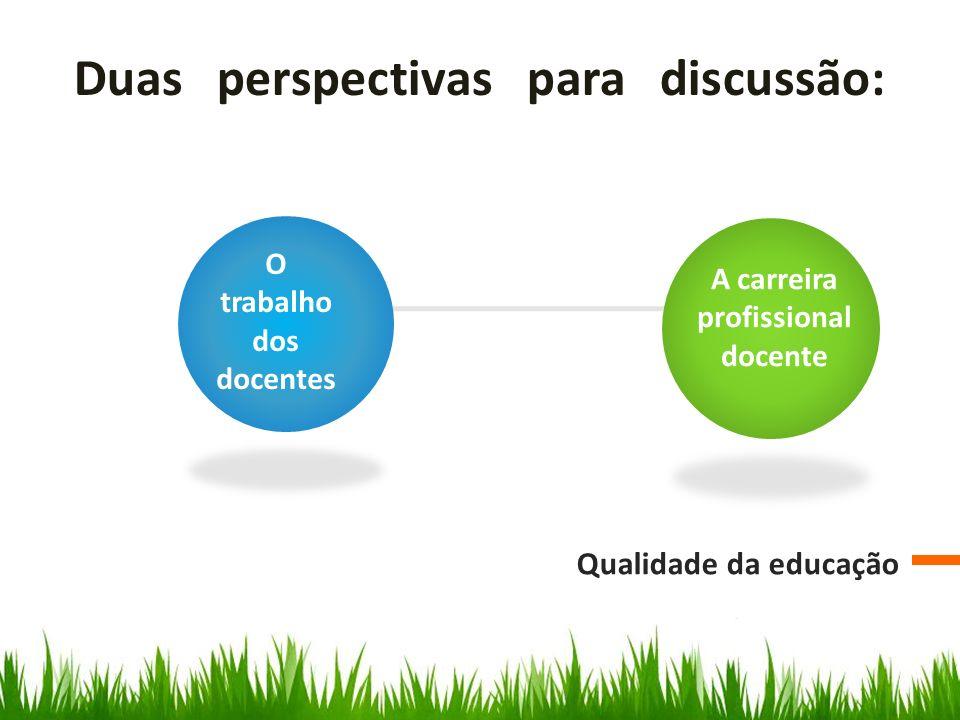 O trabalho dos docentes A carreira profissional docente