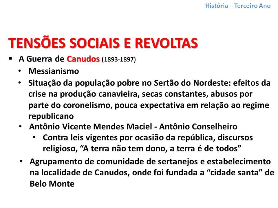 TENSÕES SOCIAIS E REVOLTAS