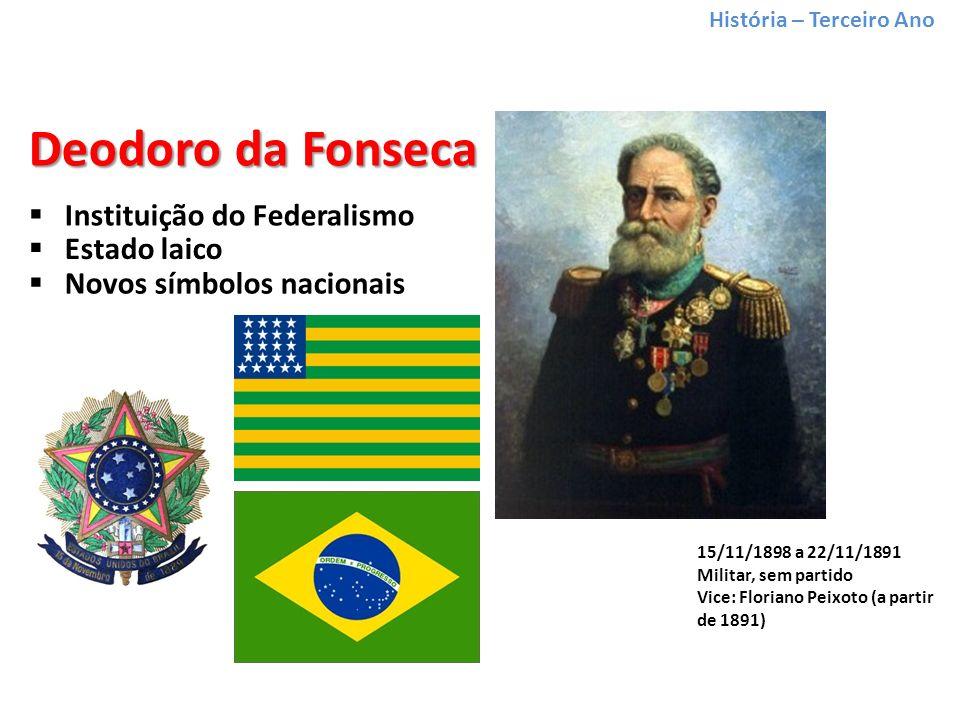 Deodoro da Fonseca Instituição do Federalismo Estado laico