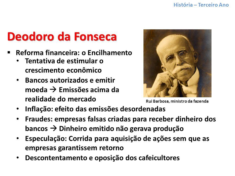 Rui Barbosa, ministro da fazenda