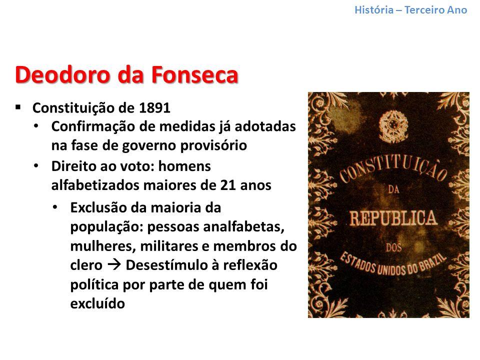 Deodoro da Fonseca Constituição de 1891