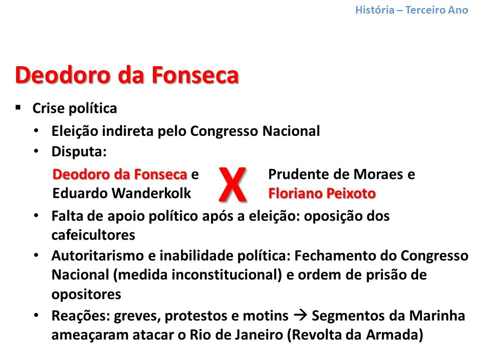 X Deodoro da Fonseca Crise política