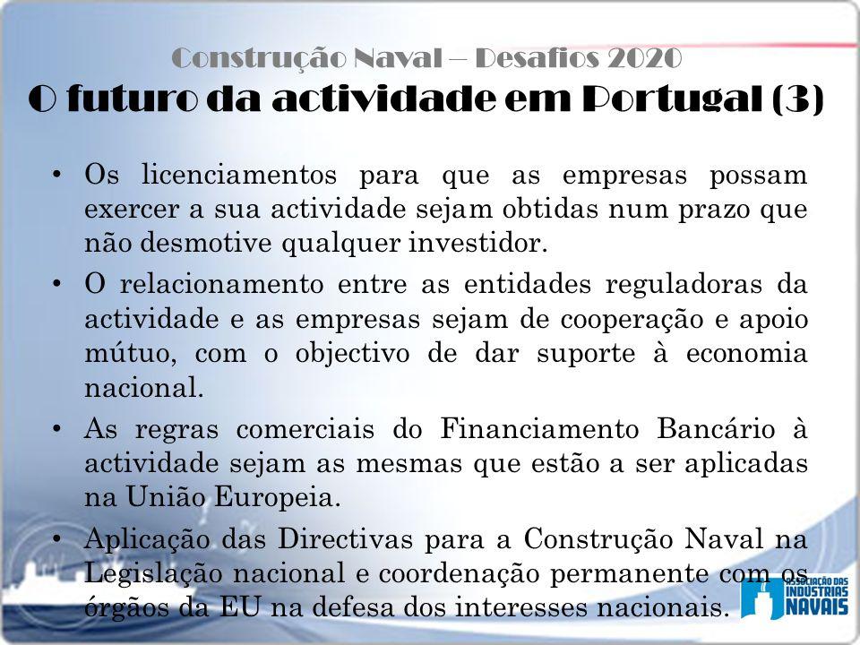Construção Naval – Desafios 2020 O futuro da actividade em Portugal (3)