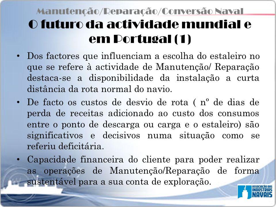 Manutenção/Reparação/Conversão Naval O futuro da actividade mundial e em Portugal (1)