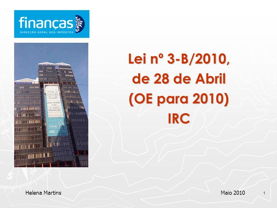 Lei nº 3-B/2010, de 28 de Abril (OE para 2010) IRC