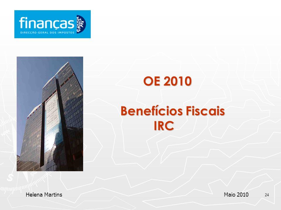 OE 2010 Benefícios Fiscais IRC