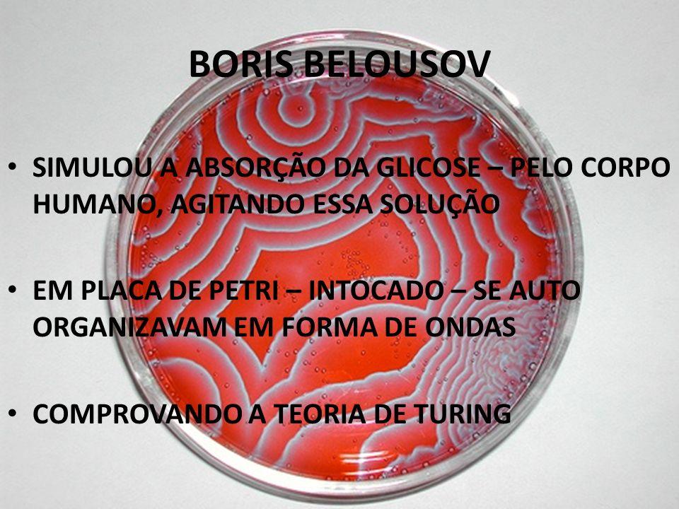 BORIS BELOUSOV SIMULOU A ABSORÇÃO DA GLICOSE – PELO CORPO HUMANO, AGITANDO ESSA SOLUÇÃO.