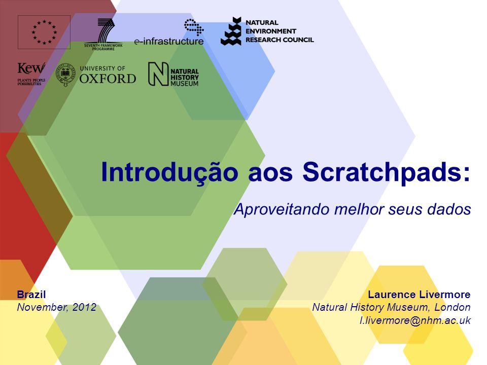 Introdução aos Scratchpads: Aproveitando melhor seus dados