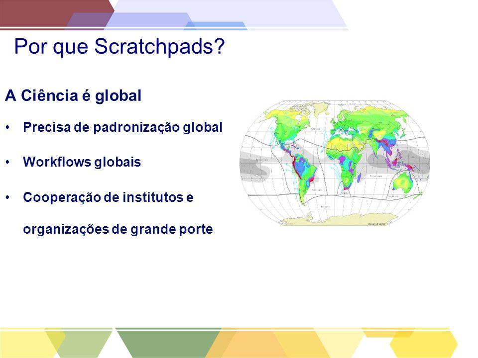 Por que Scratchpads A Ciência é global Precisa de padronização global