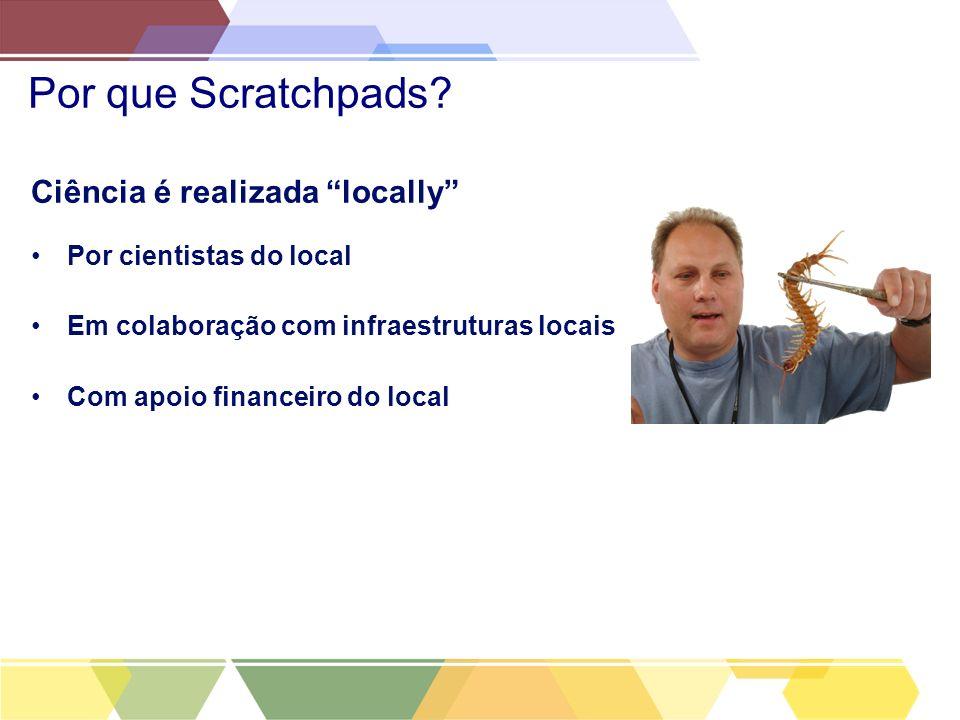 Por que Scratchpads Ciência é realizada locally