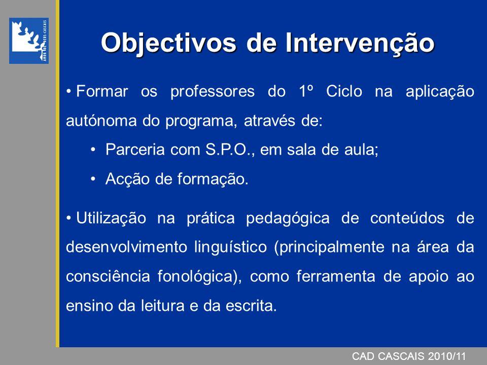 Objectivos de Intervenção