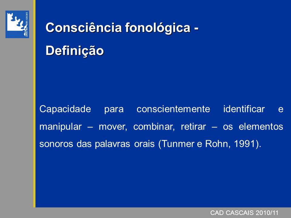 Consciência fonológica -Definição