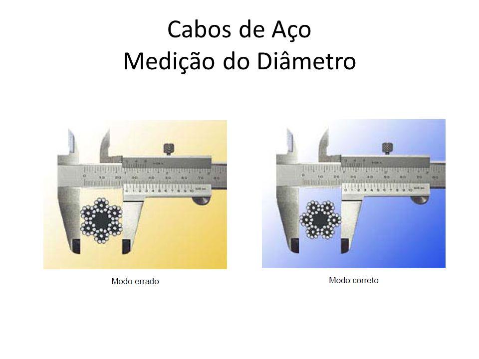 Cabos de Aço Medição do Diâmetro