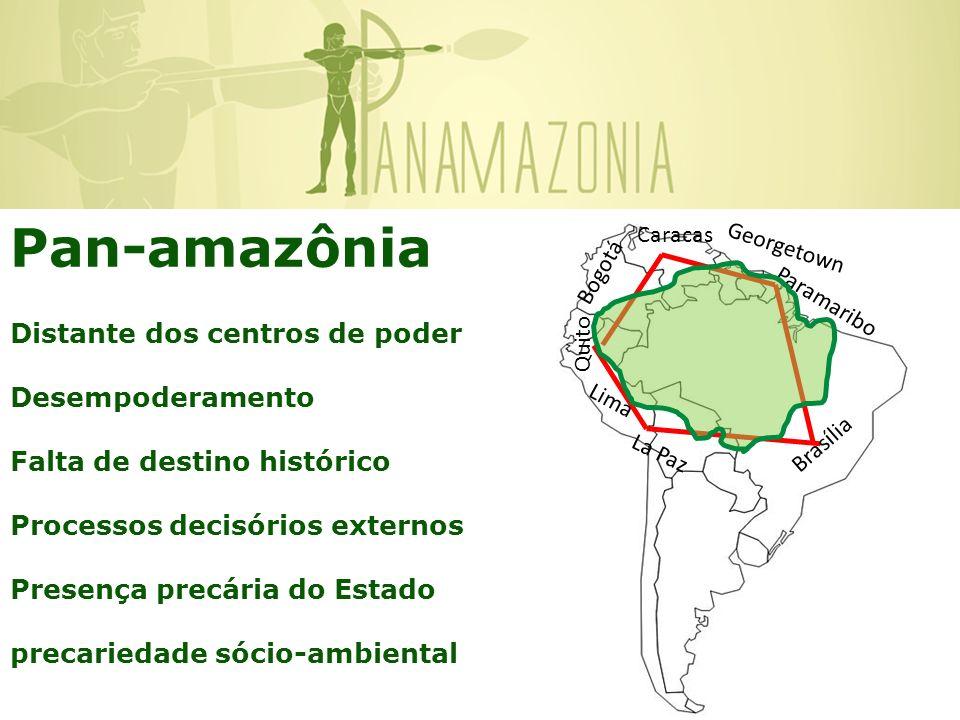 Pan-amazônia Distante dos centros de poder Desempoderamento