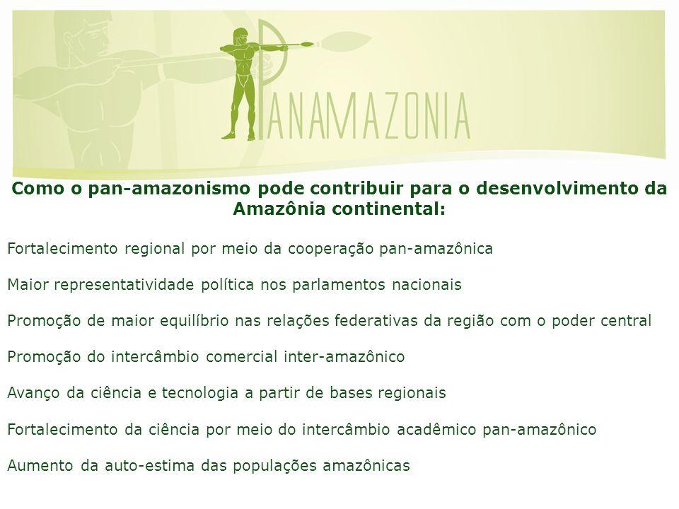 Como o pan-amazonismo pode contribuir para o desenvolvimento da Amazônia continental: