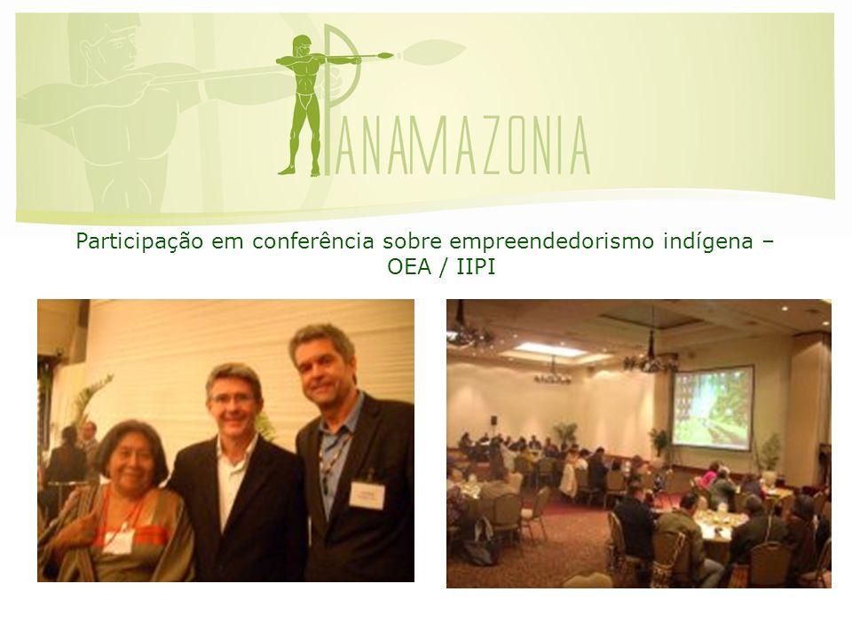 Participação em conferência sobre empreendedorismo indígena – OEA / IIPI