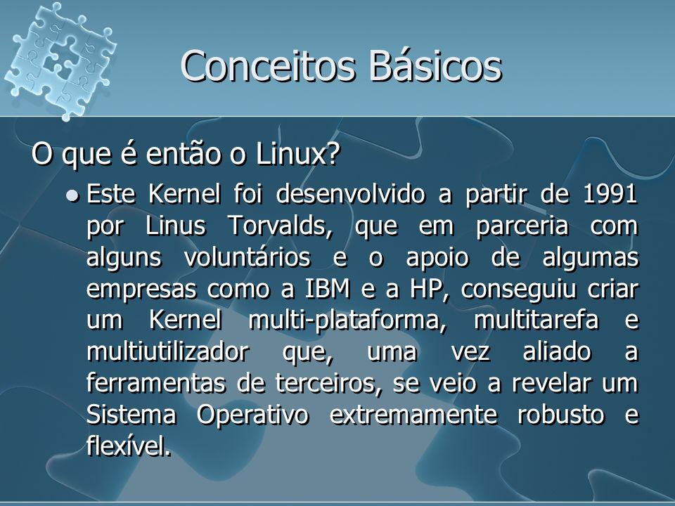 Conceitos Básicos O que é então o Linux
