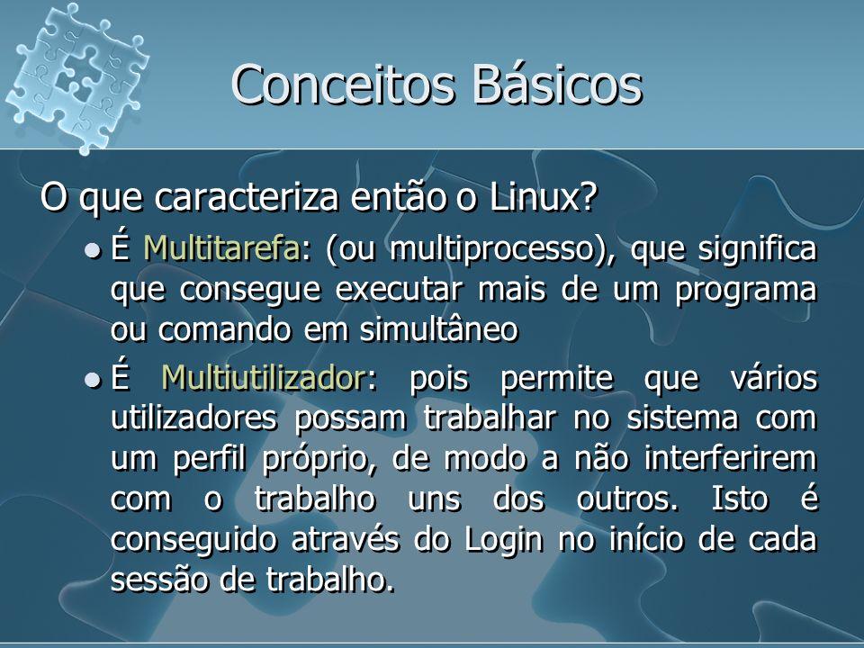 Conceitos Básicos O que caracteriza então o Linux