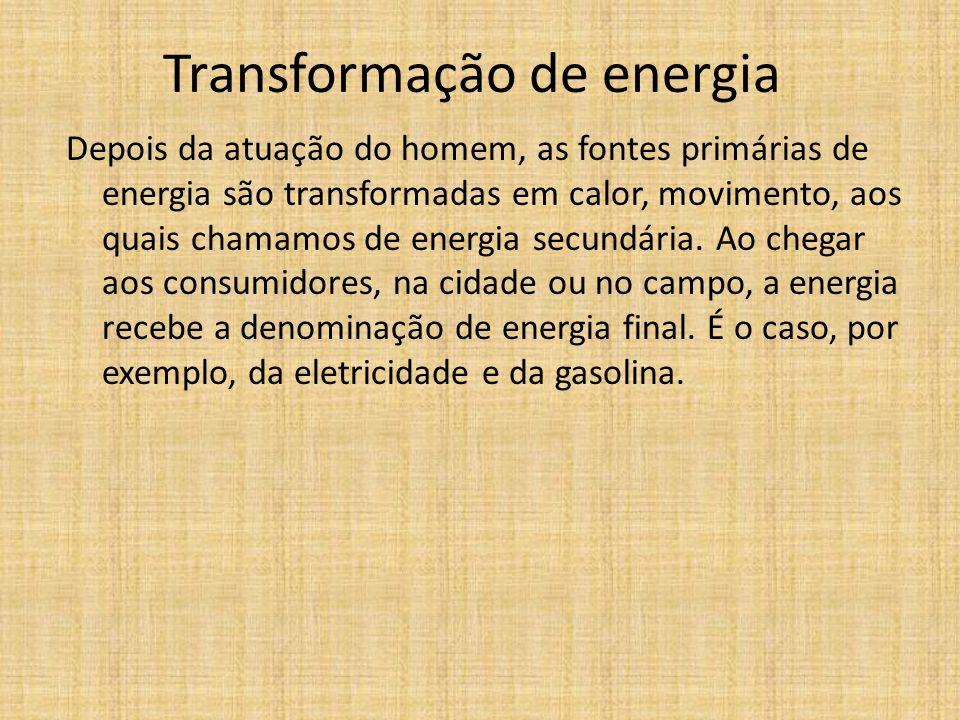 Transformação de energia