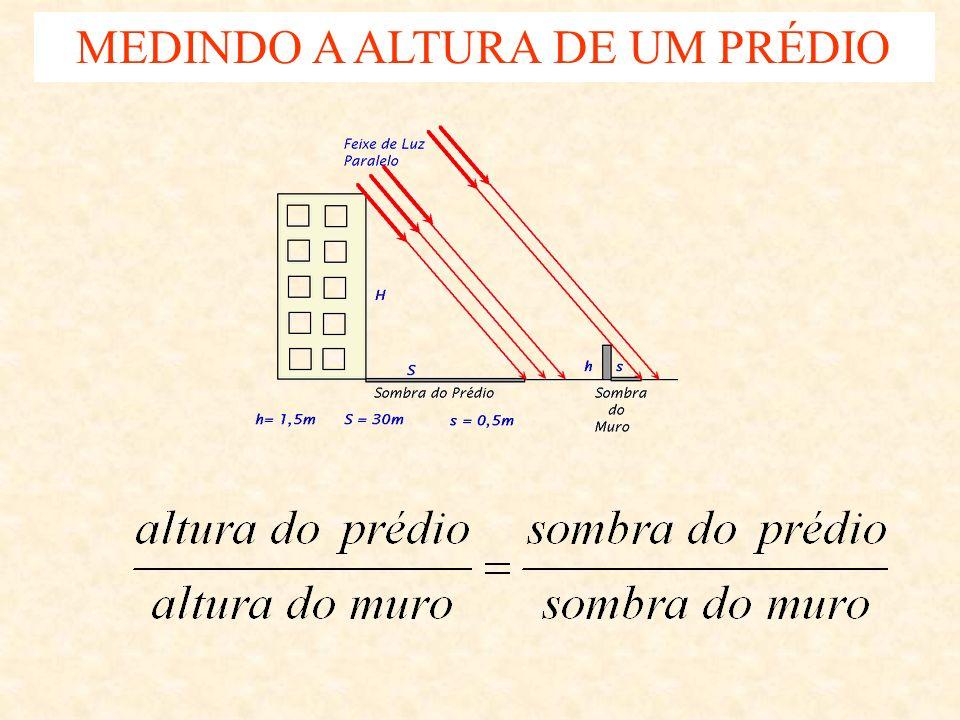 MEDINDO A ALTURA DE UM PRÉDIO