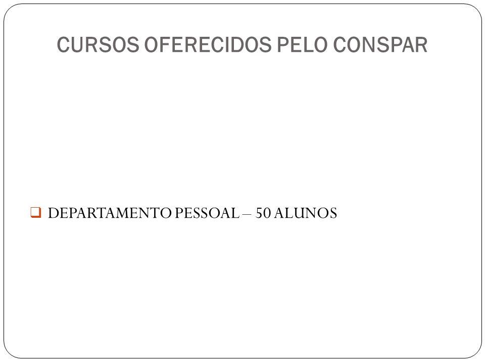 CURSOS OFERECIDOS PELO CONSPAR