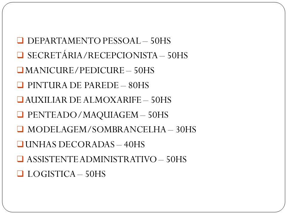 DEPARTAMENTO PESSOAL – 50HS